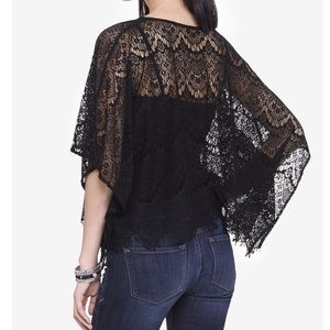 Express Jackets & Coats - Black lace poncho